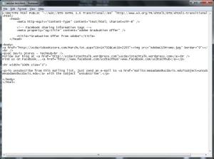 Sending HTML e-mail in Outlook 2010