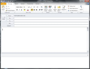 Send HTML E-Mail in Outlook 2010 002